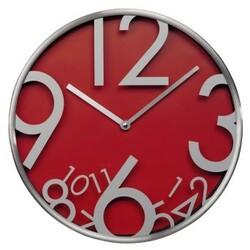Nástěnné hodiny, tichý chod, červená