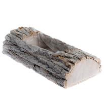 Skrzynka drewniana z PVC, szary, 9 x 40 x 18 cm
