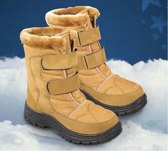 Zimní obuv s kožíškem, hnědá, 36