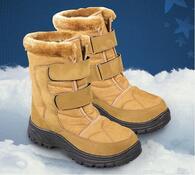 Zimní obuv s kožíškem, hnědá, 39