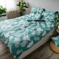Bavlnené obliečky Palma green, 140 x 200 cm, 70 x 90 cm, 40 x 40 cm