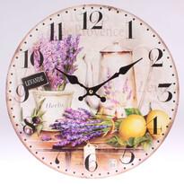 Drewniany zegar ścienny Lawenda, 34 cm