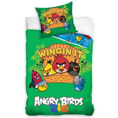Dětské bavlněné povlečení Angry Birds Music, 140 x 200 cm, 70 x 80 cm