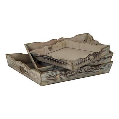 Tác dřevěný, sada 3 kusů