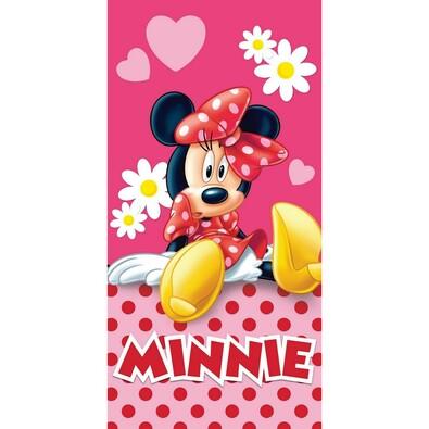 Osuška Minnie pinkie, 75 x 150 cm