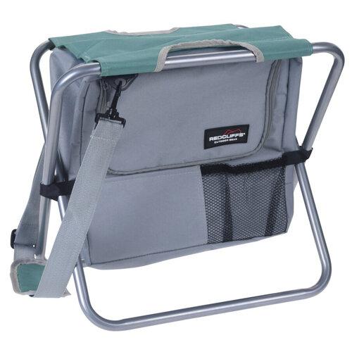 Redcliffs Kempingová skládací stolička s chladicí taškou, zelená