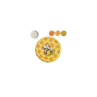 Víčko na zavařovací sklenici Med, 8,5cm, 10 ks