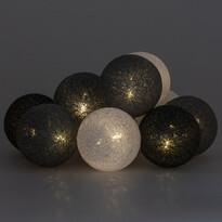 Karácsonyi fények La Balle, szürke