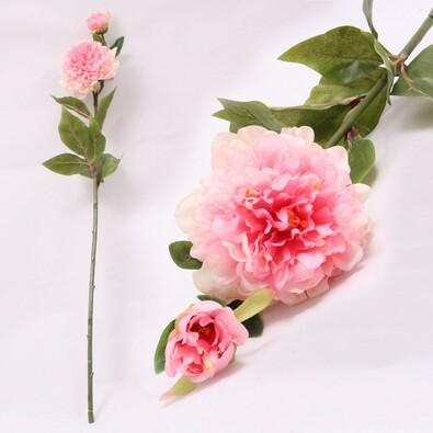 Umělá květina pivoňka růžová