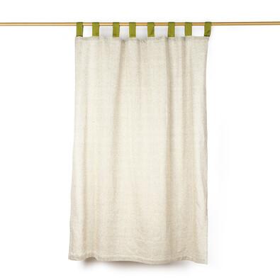 Závěs režný zelená, 140 x 250 cm
