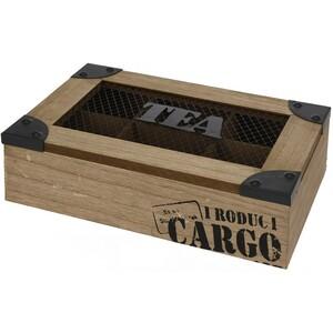 Box na čajové sáčky Tea 25 x 17 x 6,7 cm, dřevo