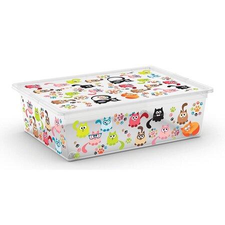 KIS Dekorační úložný box C-Box Style L Cute Animals, 27 l