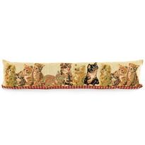 Poduszka uszczelniająca ozdobna do okien Koty, 90 x 20 cm
