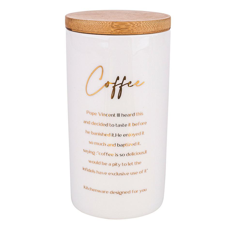 Altom Porcelánová dóza s viečkom na kávu Organic