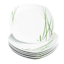 Mäser Delia 6 részes lapos tányér készlet, 25 cm