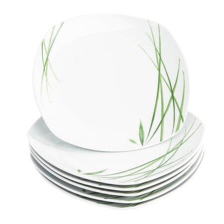 Domestic Delia 6 részes lapos tányér készlet, 25 cm