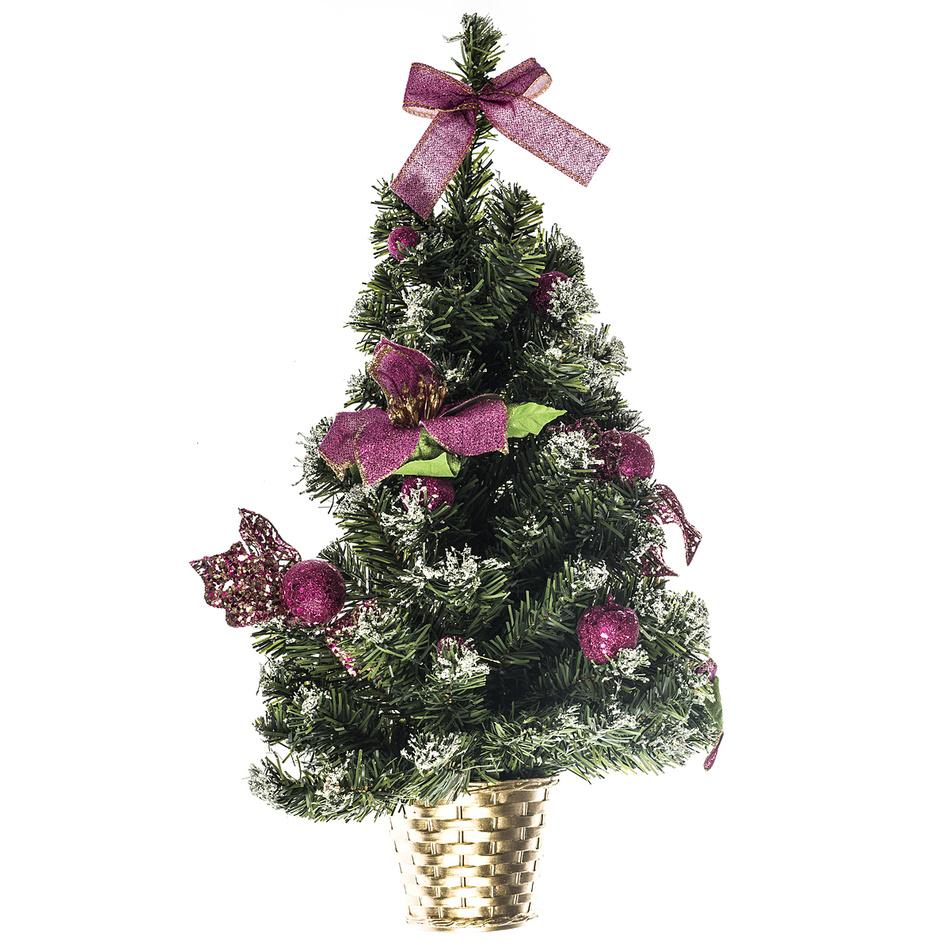 HTH Vánoční dekorace na stěnu 55 cm, růžová