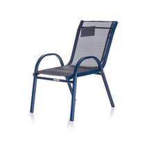 Happy Green Detská záhradná stohovateľná stolička Nikki, modrá