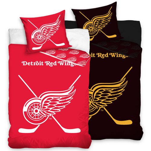 Bavlněné svíticí povlečení NHL Detroit Red Wings, 140 x 200 cm, 70 x 90 cm