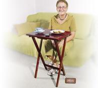Skládací stolek, tmavě hnědá