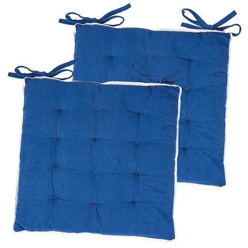 Sedák Bruno tmavo modrá, 40 x 40 cm, sada 2 ks