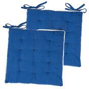 Sedák Bruno tmavě modrá, 40 x 40 cm, sada 2 ks