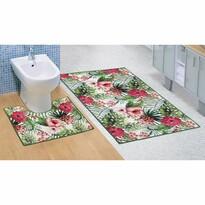 Bellatex Zestaw dywaników łazienkowych Hibiskus 3D, 60 x 100 cm, 60 x 50 cm