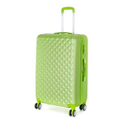 Pretty UP Cestovný škrupinový kufor ABS21 L, zelená