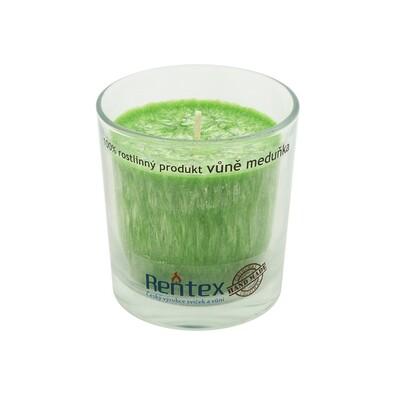 Palmová vonná svíčka ve skle meduňka