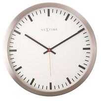 Nextime 2520 Stripe White nástenné hodiny