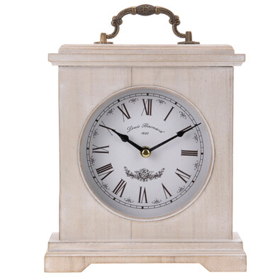 Stolné hodiny drevené hnedé