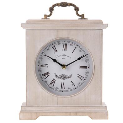Stolní hodiny dřevěné hnědé