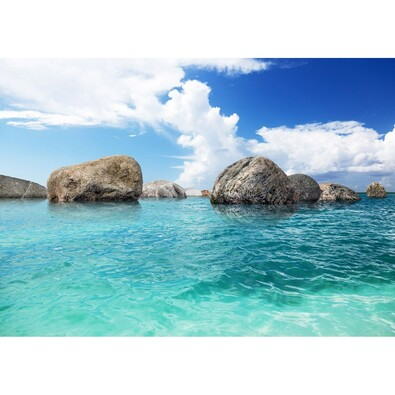 Fototapeta XXL Skały w oceanie 360 x 270 cm, 4 części