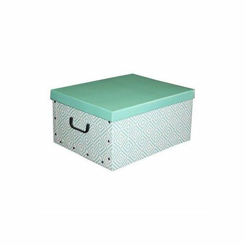 Compactor Skladacia úložná krabica - kartón box Compactor Nordic 50 x 40 x 25 cm, zelená