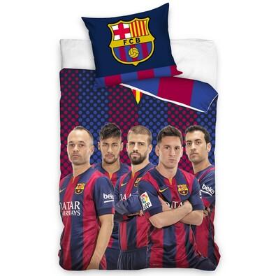 Bavlněné povlečení FC Barcelona Hráči, 140 x 200 cm, 70 x 80 cm