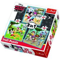 Trefl Puzzle Mickey Mouse a přátelé, 3 ks