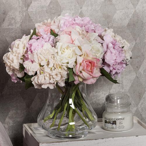 Váza Optic čirá, 21,5 cm
