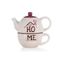 Ceainic din ceramică cu ceașcă Home Banquet