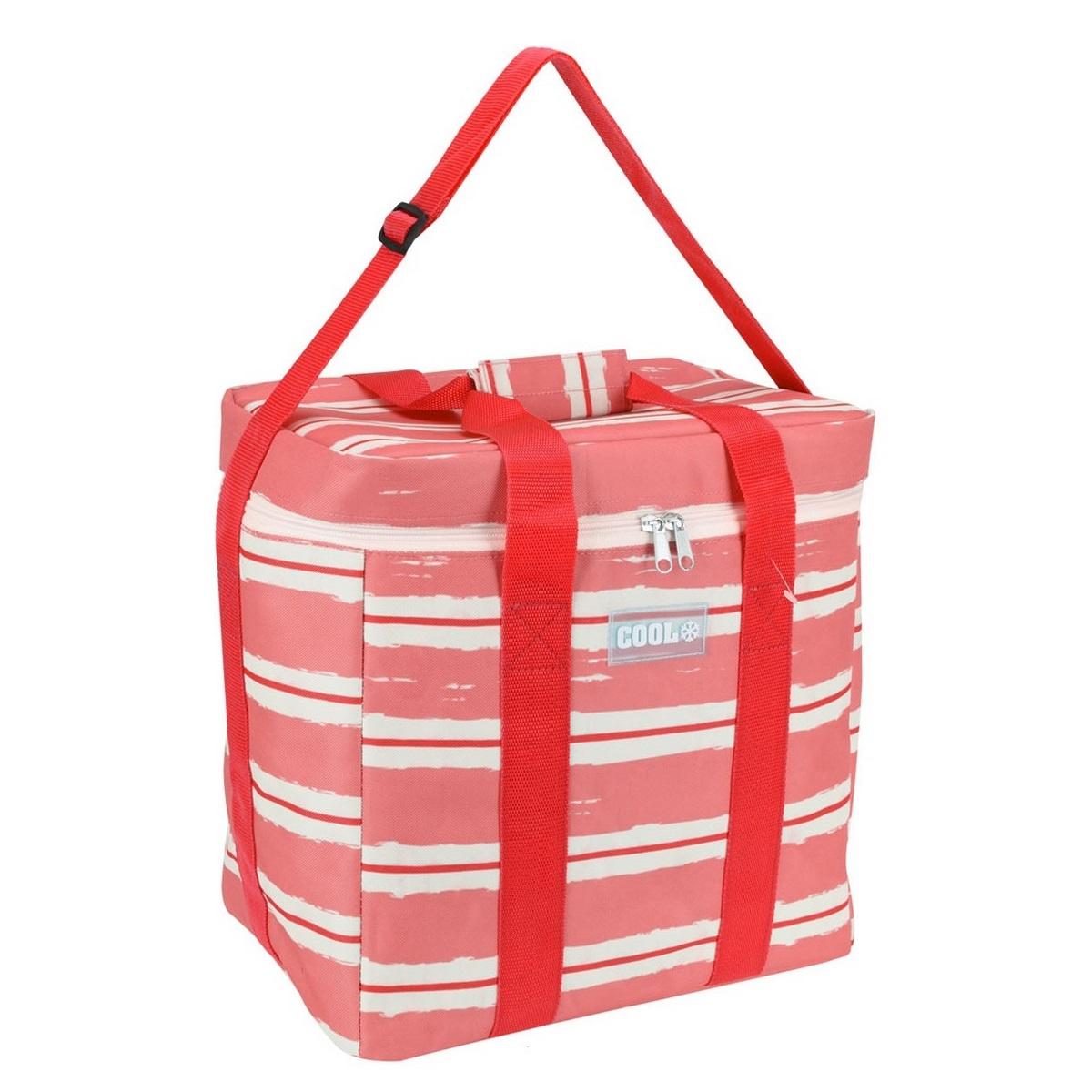 Koopman Chladicí taška Nautical červená, 34 x 22 x 34 cm