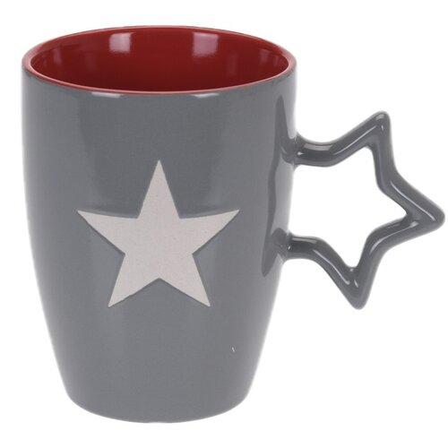 Keramický hrnek Star 330 ml, sv. šedá