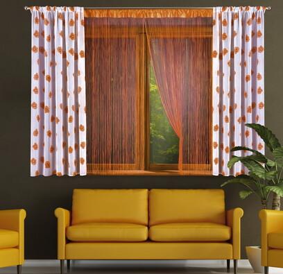 Provázková záclona Sharlota, 2 ks 90 x 180 cm