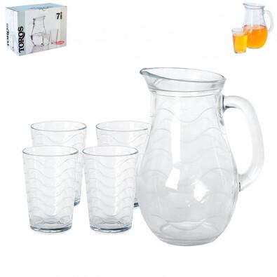 Kancsó és pohár készlet, 7 db