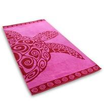 DecoKing Ręcznik plażowy Pink Turtle, 90 x 180 cm