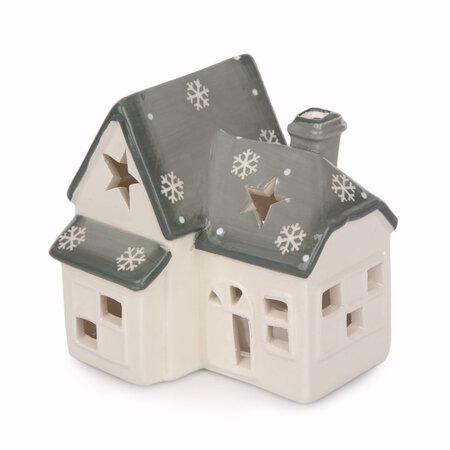 Vánoční svícen Domek s vločkami