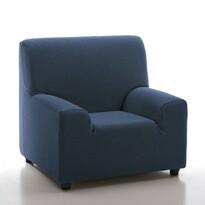 Multielastyczny pokrowiec na fotel Petra niebieski, 70 - 100 cm
