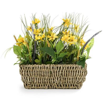 Umělá květina luční kvítí žlutá
