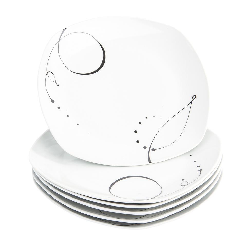 Fotografie Domestic 6dílná sada mělkých talířů Chanson, 25 cm