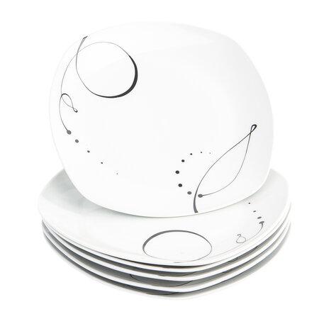 Domestic 6-dielna sada plytkých tanierov Chanson, 25 cm