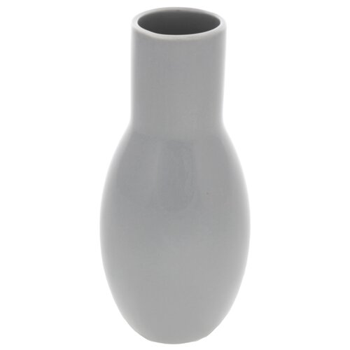 Keramická váza Belly, 9 x 21 x 9 cm, sivá