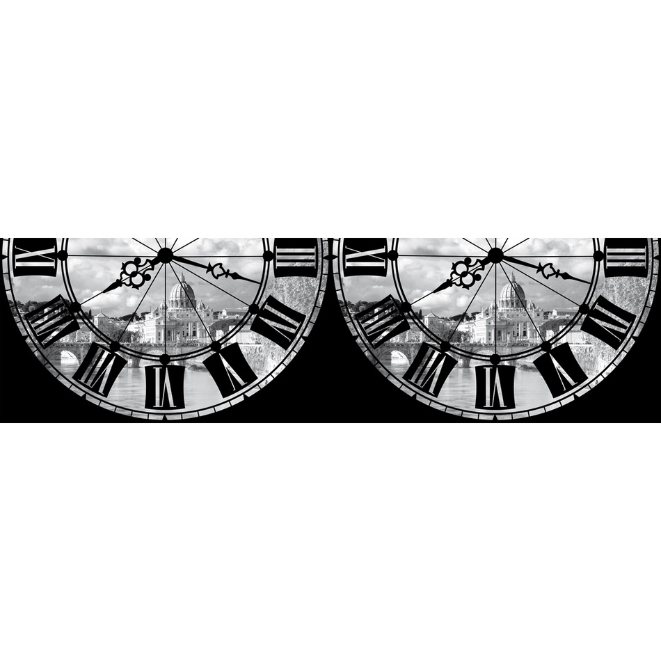 Bordură autoadezivă Ceas roman, 500 x 14 cm imagine 2021 e4home.ro
